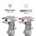 CARAX Glow Fuse. Mini Blade Fuse - OEM Size. No Bulb. Smart LED Glow Fuse