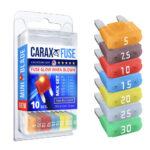 CARAX Glow Fuse. Mini Blade Fuse Mix Set 10 pcs. Automotive Indicator Smart Fuse.
