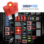 CARAX Glow Fuse. Smart Automotive STANDARD Fuse. Easy Identification LED Light Fuse