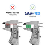 CARAX Glow Fuse. STANDARD Blade Fuse - OEM Size. No Bulb. Smart LED Glow Fuse