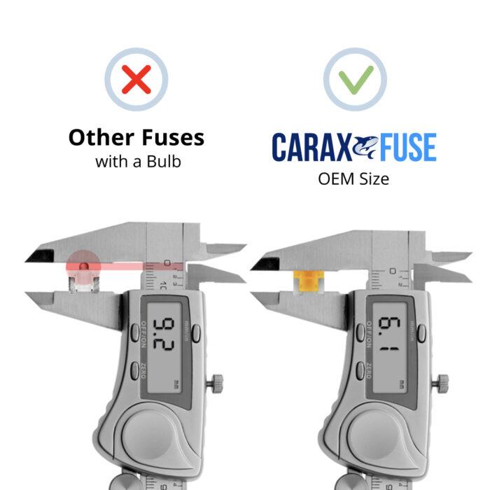 CARAX Glow Fuse. LOW PRIFILE MICRO Blade Fuse - OEM Size. No Bulb. Smart LED Glow Fuse