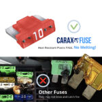 CARAX Glow Fuse. LOW PRIFILE MICRO Blade Fuse - No Melting. High-Quality Materials. Heat-Resistant
