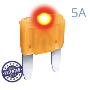 CARAX Glow Fuse. MINI Blade 5A 1 pcs. Small/APM/ATM Blade Fuse.