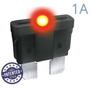 CARAX Glow Fuse. STANDARD Blade 1A 1 pcs. REGULAR/APR-ATS/ATC/ATO Blade Fuse.