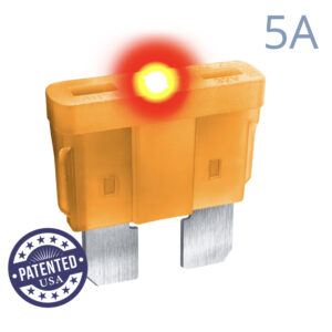 CARAX Glow Fuse. STANDARD Blade 5A 1 pcs. REGULAR/APR-ATS/ATC/ATO Blade Fuse.