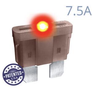 CARAX Glow Fuse. STANDARD Blade 7.5A 1 pcs. REGULAR/APR-ATS/ATC/ATO Blade Fuse.