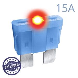 CARAX Glow Fuse. STANDARD Blade 15A 1 pcs. REGULAR/APR-ATS/ATC/ATO Blade Fuse.