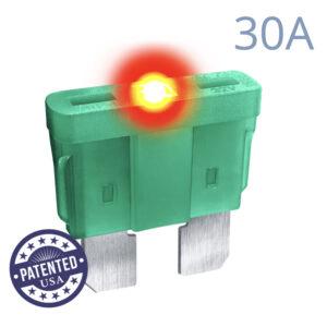 CARAX Glow Fuse. STANDARD Blade 30A 1 pcs. REGULAR/APR-ATS/ATC/ATO Blade Fuse.