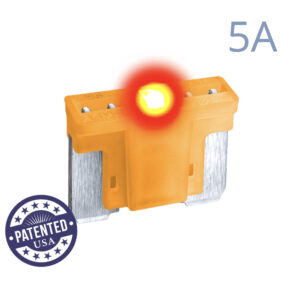 CARAX Glow Fuse. LOW PRIFILE MICRO Blade 5A 1 pcs. MICRO/SUPER MINI/APS-ATT Blade Fuse.