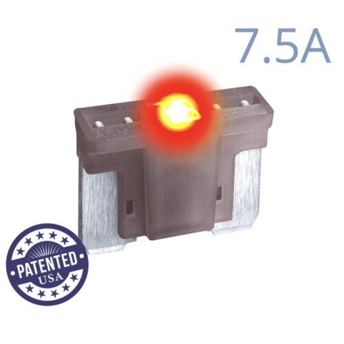 CARAX Glow Fuse. LOW PRIFILE MICRO Blade 7.5A 1 pcs. MICRO/SUPER MINI/APS-ATT Blade Fuse.