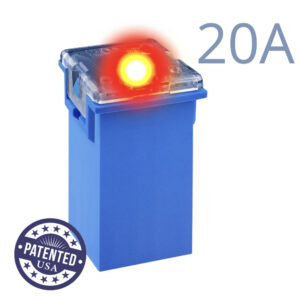 CARAX Glow Fuse. CARTRIDGE MAXI 20A 1 pcs. TALL/STANDARD/FEMALE/FMX Fuse.