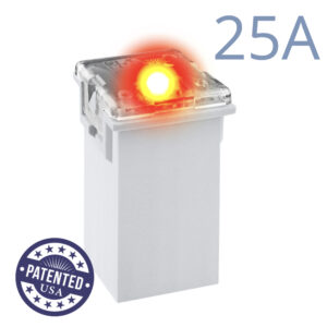CARAX Glow Fuse. CARTRIDGE MAXI 25A 1 pcs. TALL/STANDARD/FEMALE/FMX Fuse.