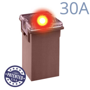 CARAX Glow Fuse. CARTRIDGE MAXI 30A 1 pcs. TALL/STANDARD/FEMALE/FMX Fuse.