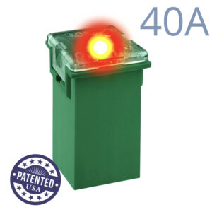 CARAX Glow Fuse. CARTRIDGE MAXI 40A 1 pcs. TALL/STANDARD/FEMALE/FMX Fuse.