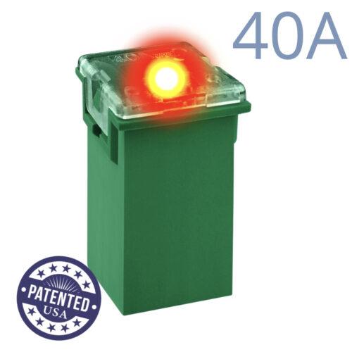 CARAX Glow Fuse. CARTRIDGE MAXI 40A 1 pcs. TALL/STANDARD/FEMALE/FMX Fuse.