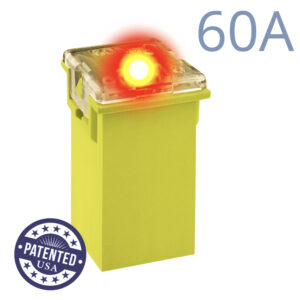 CARAX Glow Fuse. CARTRIDGE MAXI 60A 1 pcs. TALL/STANDARD/FEMALE/FMX Fuse.