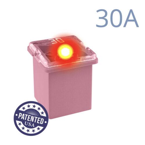 CARAX Glow Fuse. CARTRIDGE MINI 30A 1 pcs. LOW PROFILE/MINI/FEMALE/FMX Fuse.
