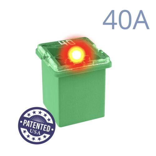 CARAX Glow Fuse. CARTRIDGE MINI 40A 1 pcs. LOW PROFILE/MINI/FEMALE/FMX Fuse.