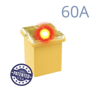 CARAX Glow Fuse. CARTRIDGE MINI 60A 1 pcs. LOW PROFILE/MINI/FEMALE/FMX Fuse.