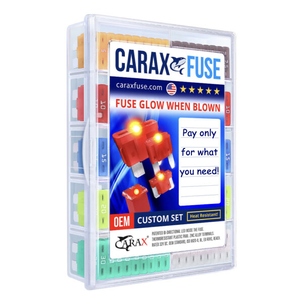 CARAX Glow Fuse. Smart Automotive Fuses Glow When Blown